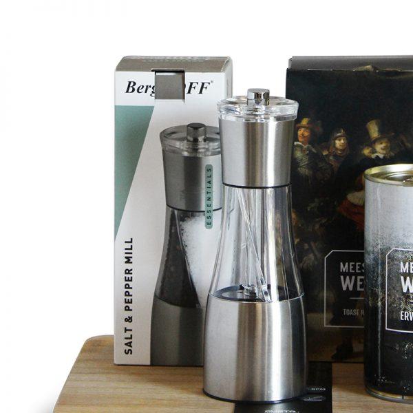 Berghoff zout- en pepermolen Kerstgeschenk