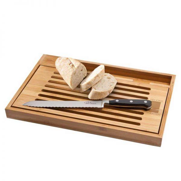 bistro snijplank met broodmes luxe relatiegeschenk