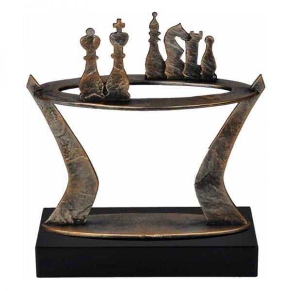brons sculptuur strategisch samenwerken sculpturen