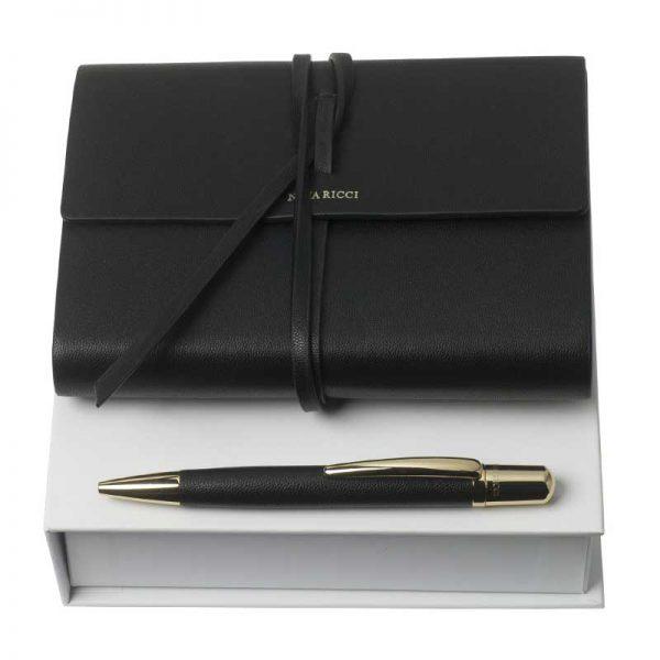 Nina Ricci geschenkpakket vrouw set pensee black balpen notitieboekje