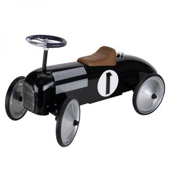 retro roller loopauto zwart kids geboortegeschenk zakelijk collega personeel